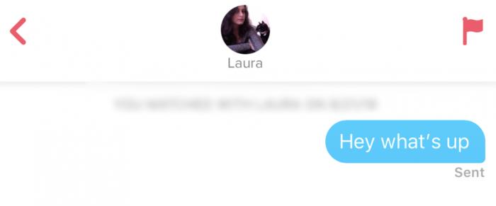 Tinder Gespräch